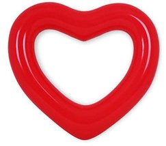 Sunnywater Sports Swimming Big Red Heart Inflatable Float Tube 120cm