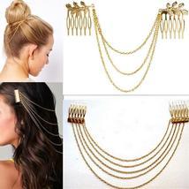Sale 1Pc Fashion Metal Tassel Chain Headband Wo... - $2.50