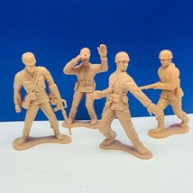 """Army men vtg toy soldiers plastic 4 inch 4"""" vietnam ww2 marx mixed lot 4... - $16.78"""