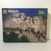 Vintage1000 Pc Jigsaw Puzzle Mount Rushmore U.S.A. Presidents Big Ben Used 1994 - $18.88