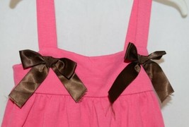 I love Baby Two piece Sun Top Ruffled Bloomers Hot Pink Brown Size 3 to4 T image 2