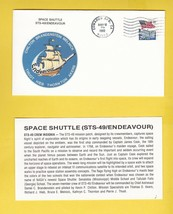 STS-49 ENDEAVOUR EDWARDS AFB, CA MAY 16 1992 WITH INSERT CARD - $1.78