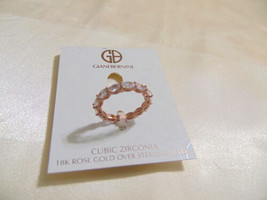 Giani Bernini 18k size 8 Rose Gold Sterling Silver Eternity Band Ring R3... - $36.47