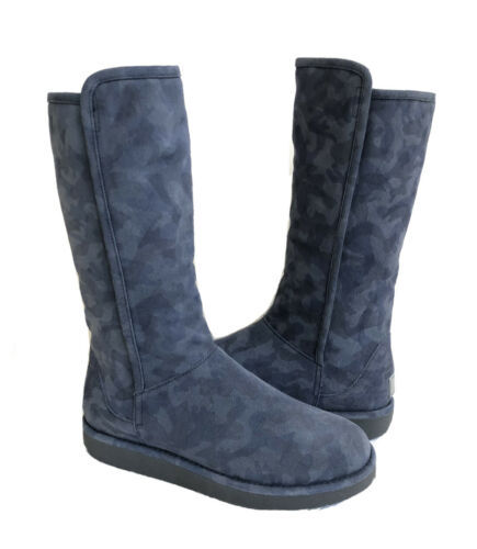 Primary image for UGG CLASSIC LUXE COLLECTION ABREE CAMO BLACK SUEDE Boot US 7 / EU 38 / UK 5.5