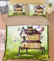 3D Houses 1418 Bed Pillowcases Quilt Duvet Cover Set Single Queen King Size AU - $90.04+