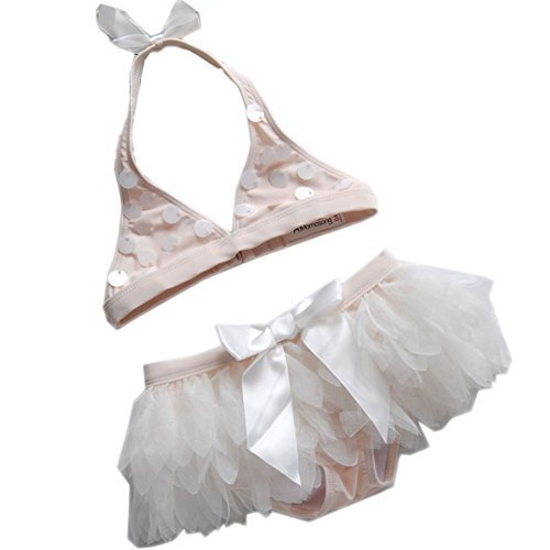 Cute Baby Girls Sequin Bikini Beach Suit Lovely Swimsuit 0-2 Years Old(75-85cm)