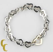 Tiffany & Co.18k Gelb Gold und Sterling Silber Herz Link Armband 19.1cm - $594.79