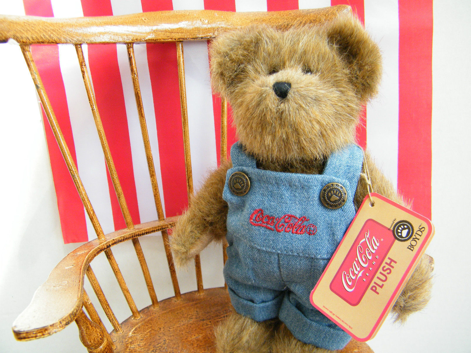 "Boyds Bears ""CRAIG"" -8"" Coca Cola® Plush Bear- 919917 - NWT- 2006-Retired"