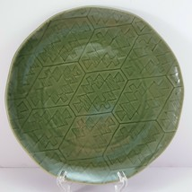 "Lenox Desert Flora Verde Salad Plate 9.25"" Luncheon Green Southwestern - $19.80"