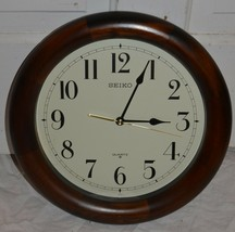 Seiko Classic Wooden Wall Clock  - $70.11