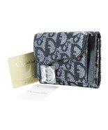 Auth CHRISTIAN DIOR Blue Trotter Canvas Bifold Snap Wallet Coin Purse #3... - $349.00