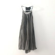NEW Victorias Secret M Medium Racerback Sheer Vertical Stripe Jewel Neck... - $23.99