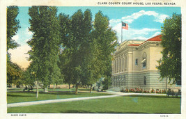 Linen Postcard NV C124 Clark County Court House Las Vegas Nevada Curt Te... - $6.50