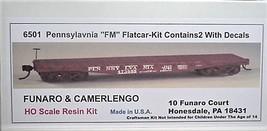 Funaro HO PRR FM' flatcars , 2 cars per Kit 6501 image 1