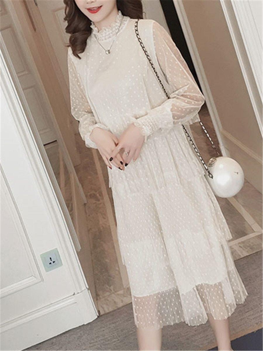 Maternity Dress Long Sleeve Fashionable Layered Dress image 5