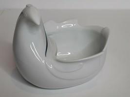 Dansk Flora Bayberry Blue Bird Chicken Vase Bowl Planter - $33.00