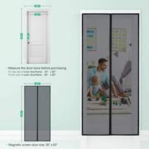 "Homitt Fiberglass Mesh Screen Door Fits Up To 36""x 82"" w/ Magnetic Closure - $43.51"