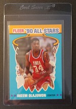 AKEEM OLAJUWON 1990-91 Fleer All-Stars #3 Houston Rockets Toronto Raptor... - $1.19