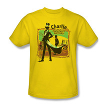 Charlie and Chocolate Factory T-shirt 100% cotton movie graphic gold tee WBM126 image 2