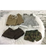 Build A Bear Clothes Lot Bottoms Shorts Boxers Khakis Overalls - $11.88
