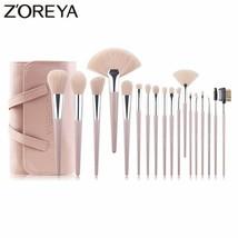 Zoreya® 18pcs/Set Cruelty Free Soft Synthetic Hair Makeup Brushes Lip - €38,51 EUR