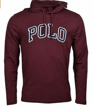 POLO RALPH LAUREN Big & Tall Mens Burgundy Letterman Hoodie L/S T-Shirt ... - $56.30 CAD