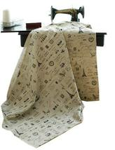 [Iron Tower] 55'' Wide Handmade Curtain/Bag/Tablecloth Linen Fabric (1955 Inch)