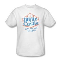 White Castle T-shirt retro graphic tee distressed logo 100% white cotton WHT110 image 2