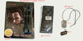 Metal Gear Solid V The Phantom Pain Flashlight, Coin, Keychain & Pendant - $42.56