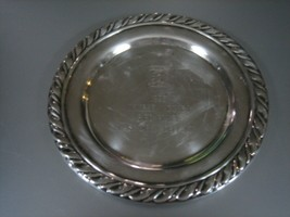 """Oneida Silverplate Small Round Tray """"1995 Panther Valley Member Guest 3rd Place"""" - $12.86"""
