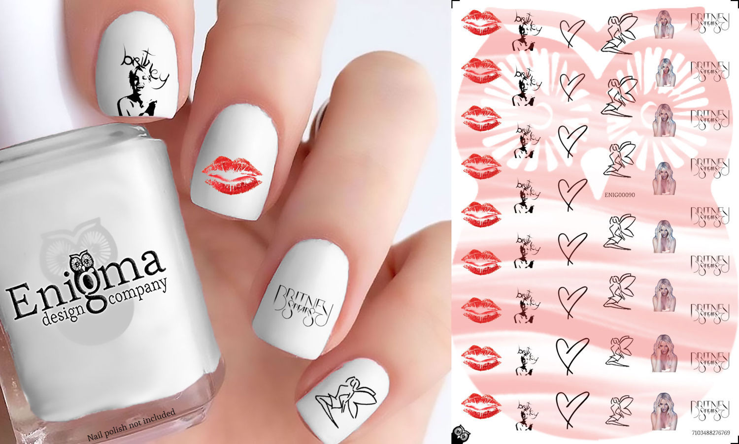 Britney Spears Nail Decals (Set of 50) and 26 similar items