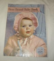 Antique 1950 Bear Brand Bébé Livre Crochet & Tricotage Enfant Pour 4 Ans... - $11.79