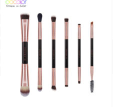 6PCS Double Eye Shadow Brush Professional Brushes for Eye Makeup Beauty  - $7.99