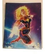 Captain Marvel 8x10 VARIANT /500 'Carol Danvers' Art Print BAM! Box 2019 - $25.60