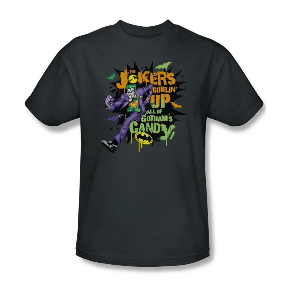 Bm1586 at batman dc comics jokers halloween candy dc for sale online graphic tee