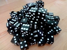 Discount Learning Supplies 100 Black Dice - 16MM - $8.55