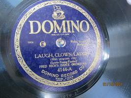 "10"" 78 rpm RECORD DOMINO 4144 FRED RICHS DANCE ORCH LAUGH CLOWN LAUGH / ... - $9.99"