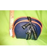 Kenneth Cole BLUE ORANGE OVAL REACTION NEW Travel HANDBAG Makeup Bag PURSE - $15.14