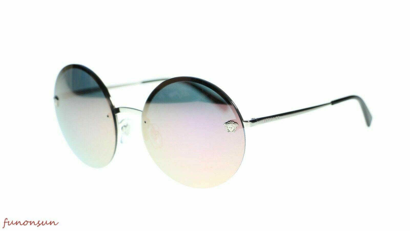 Versace Women's Sunglasses VE2176 Round Metal Frame 59mm Authentic