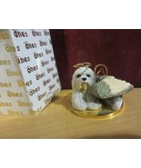 OLD ENGLISH SHEEP DOG ANGEL - Tiny One Ornament  - new in box - $12.82