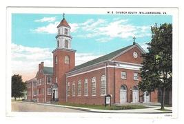 M.E. Church South Williamsburg Virginia VA Vintage Louis Kaufmann Postcard - $6.69