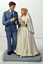 "7"" Vtg Norman Rockwell 1981 Porcelain Statue Bride Groom American Family... - $18.99"