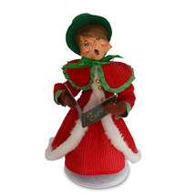 Annalee Dolls 9in 2018 Christmas Caroler Woman Plush New with Tags - $25.28