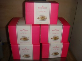 5 New Royal Albert Porcelain Country Rose Buttermilk Tea Cup Saucer Coffee Cup - $97.02