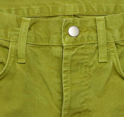 J Brand Green Denim Button Fly Jeans Pants Boot Cut Womens Size 32 x 32.5 image 7