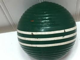 Vintage CROQUET Ball Green Replacement White Stripe 23535 Dark Forest - $14.84