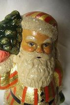 Vaillanourt Folk Art American Santa with Red and Gold Stripes signed by Judi! image 3