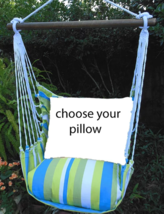 MAGNOLIA CASUAL HAMMOCK SWING SET - BEACH BOULEVARD Choose Your Pillow - $39.00+