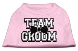 Team Groom Screen Print Shirt Light Pink Med (12) - $11.98