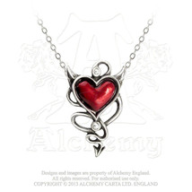 Devil Heart Pendant by Alchemy Gothic - $30.64